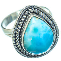 Larimar 925 Sterling Silver Ring Size 8.75 Ana Co Jewelry R10735F
