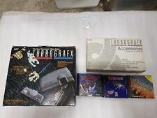 NEC TurboGrafx-16 + Boxed Accessories + 3 Games Blazing Lazers Retro RARE