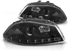 LED HEADLIGHTS LPSE08 SEAT IBIZA 6L 2002 2003 2004 2005 2006 2007 2008 BLACK