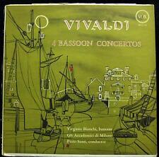 VIRGINIO BIANCHI vivaldi 4 bassoon concertos LP VG+ PL 10.740 Vox USA 1958 RVG