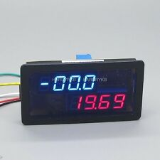 DC 500A 200V Digital Amp Volt Meter w/Shunt Charge Discharge Battery 12v 24v car