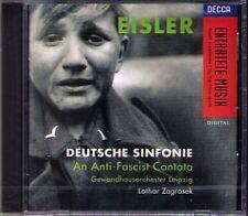 Lothar ZAGROSEK: EISLER Deutsche Sinfonie MATTHIAS GOERNE CD Annette Markert NEU