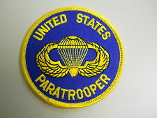 UNITED STATES PARATROOPER ROUND patch military vet