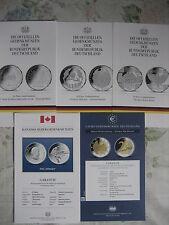 Cada uno un original mdm Flyer para 10 y 20 monedas conmemorativas de euro a partir de 2007