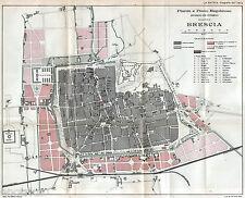 Brescia: Pianta:Piano Regolatore interno e esterno.Grande Carta Topografica.1898