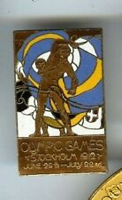 1912 OLYMPICS poster art CLOISONNE pin STOCKHOLM