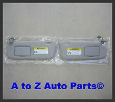 NEW 2006-2008 Hyundai Sonata DRIVER & PASS Grey SUN VISORS W/Sunroof,OE Hyundai