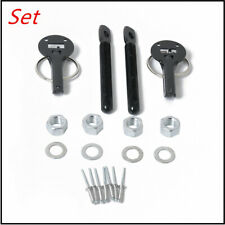 Universal Alloy Mount Bonnet Hood Pin Pins Lock Latch Kit for Racing Sport Car