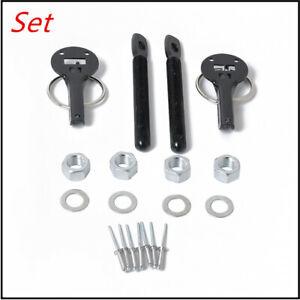 Universal Alloy Mount Bonnet Hood Pin Pins Lock Latch Kit for Racing Sport Car