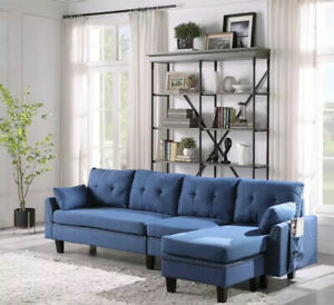 Premium 4 Seat Sectional Sofa Couch W/ Padded Reversible Chaise Storage Ottoman