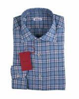 Kiton Napoli Pure Linen Modern Fit Dress Shirt ~ Handmade in Italy