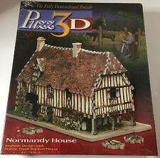 """Puzz 3D """"Normandy House"""" 225 Pieces---NEW, FACTORY SEALED!!"""