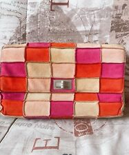 Chanel bag suede handbag patchwork classic flap 2.55