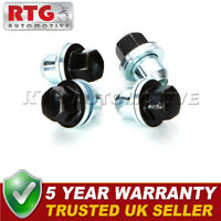 4x Black Wheel Nuts + Washers For Range Rover L322 22mm Hex - Shop Soiled