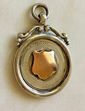 ANTIQUE 1931 METAL STERLING SILVER ROSE GOLD WATCH FOB HALLMARK 100 YARD CHAMP