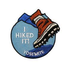"Trail Hiking ""Yosemite"" National Park Souvenir Patch California Iron-On Applique"