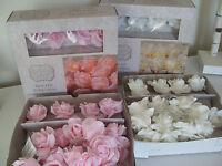 BOX OF 20 LED CREAM OR PINK PE ROSE LED STRING LIGHTS FAIRY GARLAND WEDDING NEW