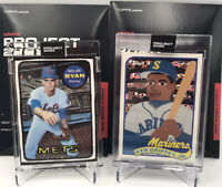 Topps Project 2020 Lot Of 2 Ken Griffey Jr. 87 Shore And Nolan Ryan 88 Vides