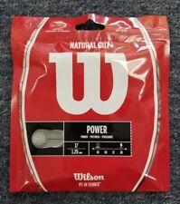 Wilson Natural Gut Power 17 Gauge 1.25mm Tennis String