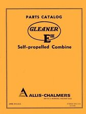 ALLIS CHALMERS Gleaner E III Self Combine Parts Manual