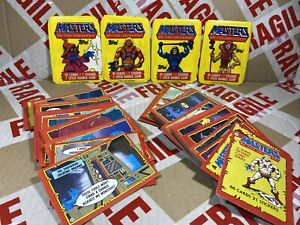 VINTAGE Topps Cards Complete set! He Man Motu Wax Packets Rare Trading