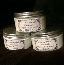 Handmade Organic Lavender Essential Oil Scented Thick Creamy Body Lotion 100ml