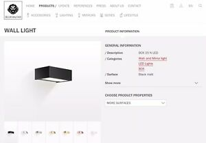 DECOR WALTHER 15 N LED DIMMABLE BLACK MATT DESIGNER BATHROOM WALL LIGHT RRP £229