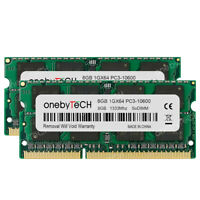 16GB 2x8GB DDR3-1333 PC3-10600 240Pin CL9 1.5V SODIMM Laptop Notebook Memory RAM