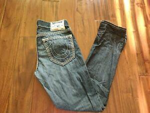 True Religion Skinny Blue Jeans Men's 32 Waist 32 Inseam