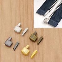 10x Reißverschluss Stopper für Jacke Jeans Hose DIY Zipper Repair Handarbeit 8#