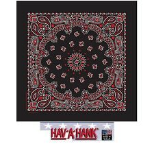 *USA MADE HAV-A-HANK 2-Sided Cotton PAISLEY BANDANNA BANDANA Wrap Scarf Hanky US