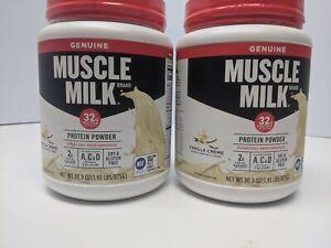 Set of 2: Muscle Milk Genuine Protein Powder, Vanilla Creme - 30.9 oz