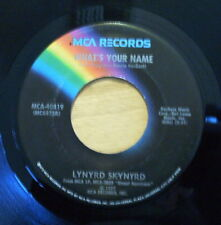Nice VG+ Lynard Skynyrd What's You Name & I Know A Little - 1977 Release