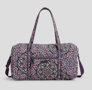 VERA BRADLEY~LAY FLAT Travel Duffel Bag~BON BON MEDALLION~$130~NWT!