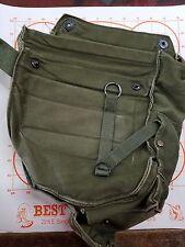 US MILITARY VINTAGE VIETNAM ERA GAS MASK BAG M17A1 USED CANVAS