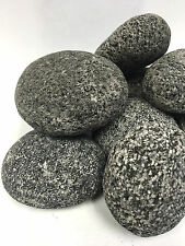 """2""""-4"""" 10 Lbs Smooth Tumbled Lava Stones For Gas Fireplaces/Firepits"""