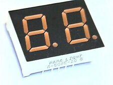 7-Segment Doppelanzeige 2 Digit LED Display 12,7mm ROT A-502E-10 gem. Anode