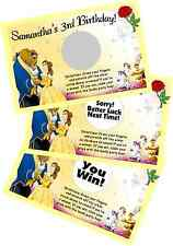 BEAUTY & THE BEAST BELLE SCRATCH OFF OFFS PARTY GAME CARDS BRIDAL SHOWER FAVORS