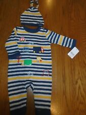 BNWT baby boy romper & hat outfit. Mothercare. RRP £12. 0-3mths         (2/1)