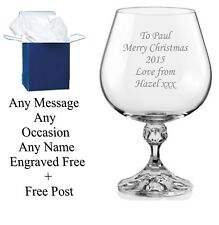 Personalised Engraved Brandy glass wedding gifts best man gift usher gift