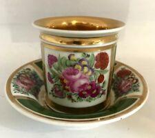 grande Tasse à chocolat  porcelaine de PARIS doré à l'or époque XIXème
