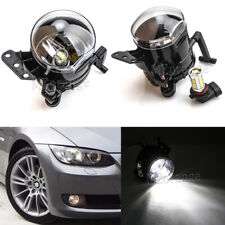 Pair LED Front Fog Lights Bumper Lamps For BMW E60 E61 E63 E46 X3 325i 525i Blub