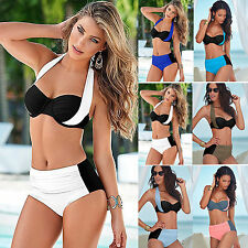 Women High Waisted Bikini Set Push-Up Halterneck Swimwear Swimsuit Bathing Suit
