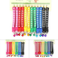 12PCS Dog Collars Pet Cat Puppy Buckle Nylon Adjustable Collar With Bell 6 Color