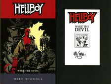 Mike Mignola SIGNED AUTOGRAPHED Hellboy Wake The Devil SC Brand New Book #2