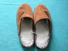Herren Hausschuhe Pantoffeln Lammfell gefüttert Schaffell Schuhe Gr.40 - 46