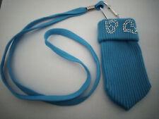 Chaussette Housse Pochette pour Téléphone Portable MP3 MP4 bleu