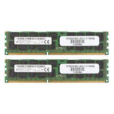 2x For Mircon 16GB PC3-12800R DDR3 1600Mhz 2Rx4 REG-DIMM ECC SERVER Memory RAM
