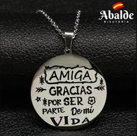 Original Collar Mujer Amiga Te quiero Eres lo Más Regalo Amistad Familia Amor