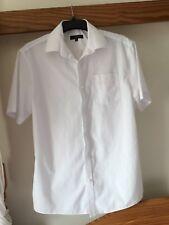 Tailor & Cutter Men's White Formal Short Sleeved Shirt Size 16 Inch Collar